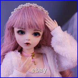 60cm 1/3 Ball Jointed Girl BJD Doll with Full Set Outfit Clothes Makeup Gift Toy