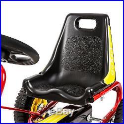 Adjustable Seat Go Kart Pedal Car Ride On Toys for Boys & Girls Safe 4 Wheels