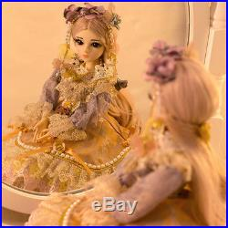 BJD 1/3 Girl Dolls 60cm Makeup 100% Handmade Beauty Toy Silicone Reborn for Gift