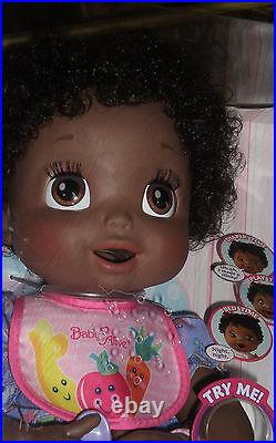 Baby Alive African American 16in. Girl Doll Soft Face Mouth Moves 2006 Toy Set