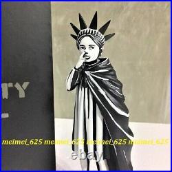 Banksy Brandalised x Mighty Jaxx Liberty Girl Polystone Sculpture Art 10