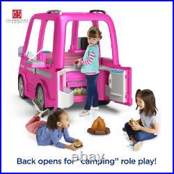 Barbie Dream Camper RV Power Wheels Battery Power Ride On Girls Car Pink Toy 12V