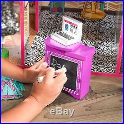 Barbie Size Dollhouse Toy for Girl with Furniture Wooden Play Doll House NEW Gif