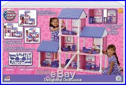 Big Doll House for Girls Barbie Mansion Indoor Playhouse Set 6 Room Complete NEW