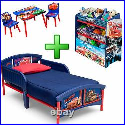 Boy Bedroom Furniture Set Girl Toy Organizer Kid Child Toddler Bed Table Chairs