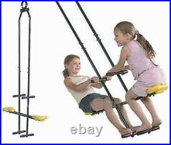 Boys Girls Kid Wood Swing Set Playground Slide Outdoor Backyard Fun Heavy Duty