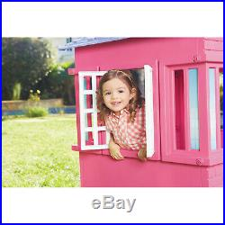 COTTAGE PLAYHOUSE For Little Girls Toddlers Princess Toy Play Pretend House Pink