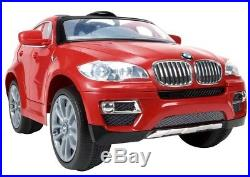 Car for Kids Ride On Electric Battery Operated Red BMW X6 Toddler Toy Boy Girl
