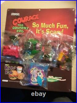 Complete Courage the Cowardly Dog SubWay Kids Pak Toys Display 2003 Cartoon