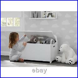 Delta Children MySize Deluxe Toy Box Kid's Room Storage Chest, Bianca White