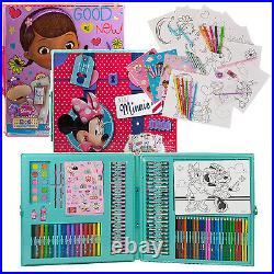 Disney 200 Pc Mega Art & Craft Set Pencil Colouring Pen Markers Sticker Toy Case
