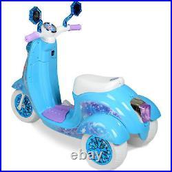 Disney Frozen Scooter Ride On Kids Toy Girls Bike Elsa Anna 6v Battery Electric