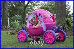 Disney Princess 24 Volt Electric Cinderella Carriage Ride-On Car for Girls NEW