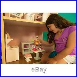Dollhouse For 18'' Dolls Kids Toys Children Play Girls Lifesize Doll House New