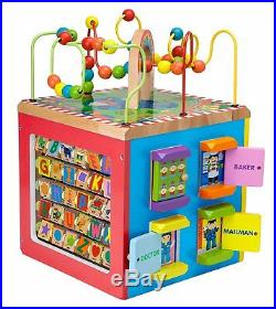 Educational Toys For 1 Years Old Activity Cube Wooden ...