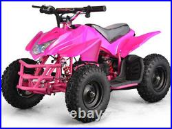 Electric Battery 24V Pink Four Wheeler Kids Boys Girls Mini Quad ATV Dirt Bike