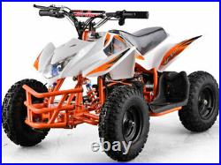 Electric Battery 24V White Four Wheeler Kids Boys Girls Mini Quad ATV Dirt Bike
