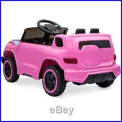 Electric Car For Kids Girls Ride on Car Truck 6V Remote 3 Speed LED Light Pink