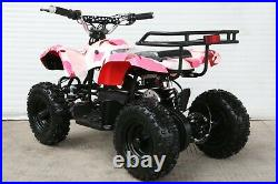 Free Shipping 500W 24V Electric Battery Kids Girls Ride On Quads Pink ATV