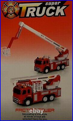 Friction Powered XLarge Fire Engine Truck Toy Lights Sounds Boys Girls Toys 112