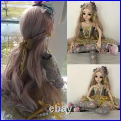 Full Set BJD Doll 1/3 Ball Jointed Girl Face Eyes Dress Makeup Birthday Gift Toy