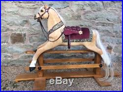 Fully Restored Girls Palomino Antique Rocking Horse Toy Horse Lay Away Available