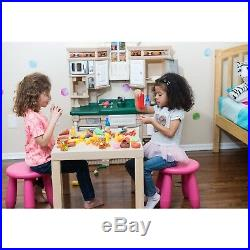 Gifts For Kids Kitchen Playset Pretend Play Toys Girls Boys Toy Food Set 122 Pcs