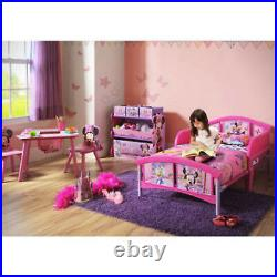 Girl Bedroom Furniture Set Toy Organizer Kid Child Toddler Bed Table Chairs