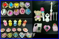 Glitter force Pretty Cure Precure Girls toy SET Charms Stick Wand Compact JAPAN