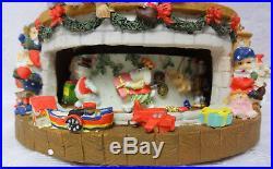 Grandeur Noel Christmas Santa Elfs Toys For Boys & Girls Musical Snow Globe Rare
