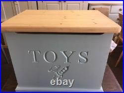 Handmade, personalised, solid, wooden Toy Box with soft closing lid