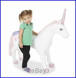 Horse Riding Toys For Girls Big Pony Stuffed Animal Plush Bday Gift Age 3 4 5 6