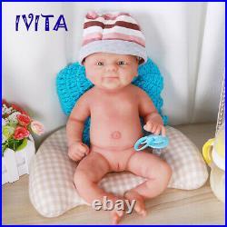 IVITA 14'' Full Body Soft Silicone Reborn Doll Newborn Baby Girl 1800g Toy Gift