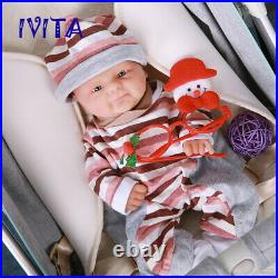 IVITA 14'' Handmade Silicone Reborn Doll Smiling Face Baby Girl 1800g Toy Gift