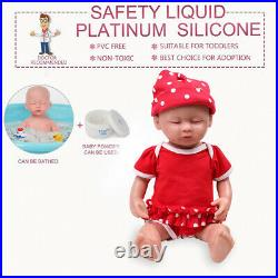 IVITA 15Silicone Rebirth Baby Doll Girl Sleeping Baby Gifts Toy Holiday Gifts