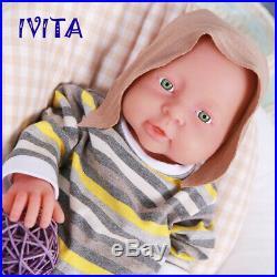 IVITA 16'' Full Body Silicone Reborn Doll Realistic Baby Girl Birthday Gift Toy