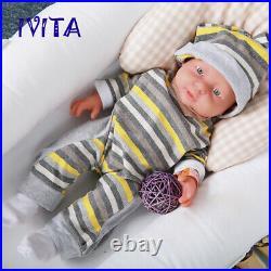 IVITA 16'' Handmade Silicone Reborn Doll Lifelike Baby Girl 2100g Xmas Gift Toy