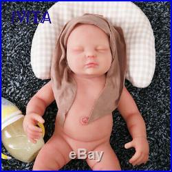 IVITA 18.5'' Silicone Newborn Baby Reborn Doll Lifelike Sleeping Girl 3700g Toy