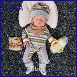 IVITA 18'' Silicone Reborn Doll Sleeping Baby Girl Can Take Pacifier Toy Gift