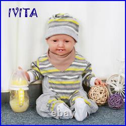IVITA 20'' Full Silicone Reborn Dolls Lifelike Newborn Baby GIRL Toys Xmas Gift