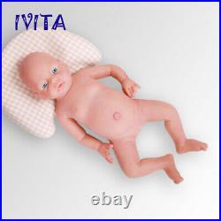IVITA 20'' Realistic Full Silicone Reborn Dolls Newborn Baby Girl Xmas Gift Toy