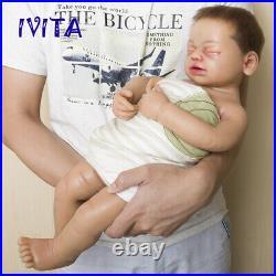 IVITA 22 New Silicone Rebirth Hair Skeleton Sleeping Baby Doll Girl Toys Gift