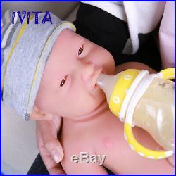 IVITA 23'' Reborn Doll Newborn Girl 5400g Full Body Silicone Baby Xmas Gift Toys