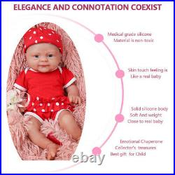 IVITA Full body silicone baby reborn doll, realistic girl baby toy for children