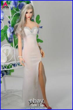 JIAOU Doll 1/6 Angel Yan Beauty Girl Female Figure Set White&Red Dress Ver
