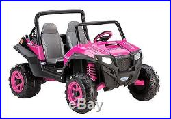 Jeep Ride On Grass Dirt For 2 Kids 12V Battery 2 Speeds Reverse Toy Red Pink