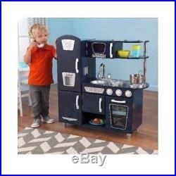 KIDKRAFT KITCHEN PLAY SET Toy For Kids Toddler Retro Food Cooking Fridge Stove