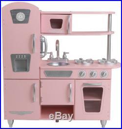 KidKraft Pink Vintage Play Kitchen Set Kids Girl Toy Gift