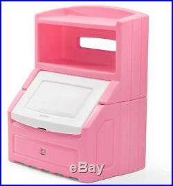 Kids Chest Toy Box Bookcase Girls Storage Bin Organizer Toys Bookshelf Girl Pink