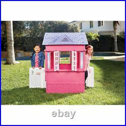 Kids Cottage Playhouse Children Toddler Garden Backyard Outdoor Playpen Girl Toy